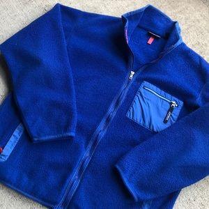 Patagonia Vintage Fleece Jacket XL Blue Zipper